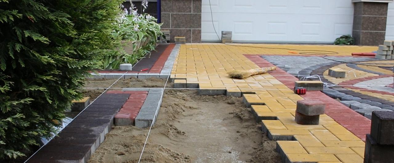 Укладка тротуарной плитки в Рузе